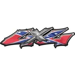 Wicked Series 4x4 Truck Bed Side Decals with Confederate