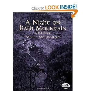 A Night on Bald Mountain in Full Score (Dover Music Scores