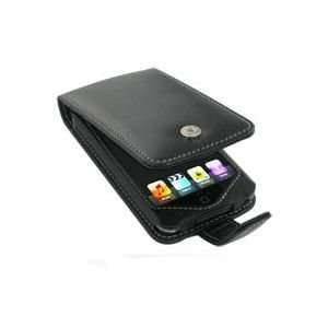 Apple iPod Touch Leather Flip Type Case (Black) Cell