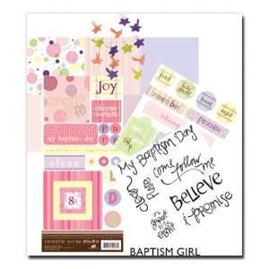 Scrapbook Kits, Girl Baptism, Celestial Scrap Studio, Black  Includes