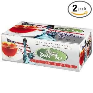 Dils Royal Tea, American Breakfast Tea, 100 Count Foil Envelopes