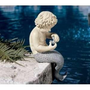 The Oceans Little Treasures Mermaid Statue Home & Kitchen