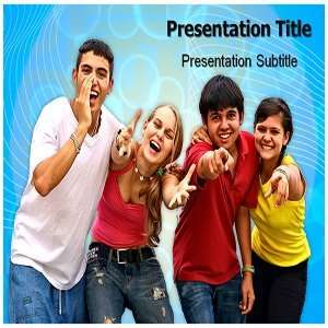 Teenagers PowerPoint Template   Teenagers PowerPoint (PPT) Backgrounds