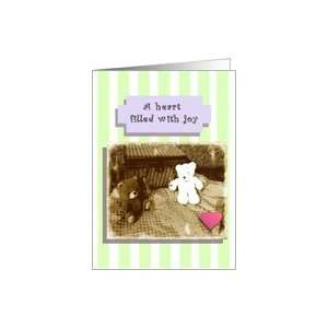 Love Grows, Teddy Bear Picnic with Champagne Flutes Card
