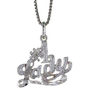 ) Tall #1 Lady Talking Pendant (w/ 18 Silver Chain) Everything Else
