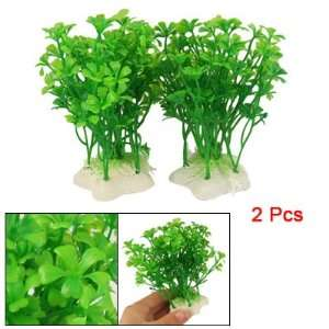 Como Fish Aquarium Green Short Grass Plant Decor 2 Pcs Pet Supplies