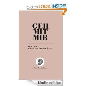 GEH MIT MIR eine reise durch das leben in lyrik (German Edition