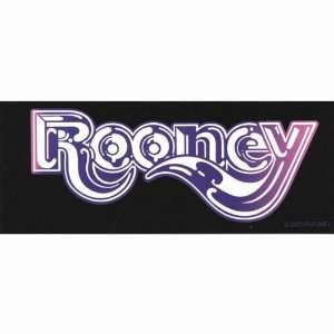 Rooney   Logo Decal   Sticker Automotive