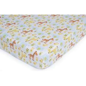 Carters Easy Fit Print Crib Sheet   Jungle Baby