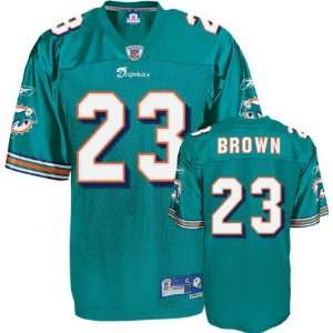 Mens Miami Dolphins #23 Ronnie Brown Team Premier Jersey
