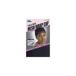 DREAM Velcro Mesh Wrap Cap Black (Pack of 12) (Model 121