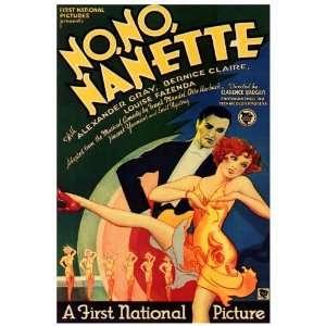 No No Nanette Movie Poster (27 x 40 Inches   69cm x 102cm