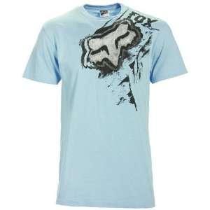 Fox Racing Road Rash T Shirt   X Large/Ice Blue Automotive
