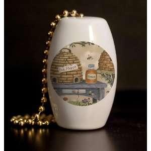 Hives and Honey Porcelain Fan / Light Pull Home