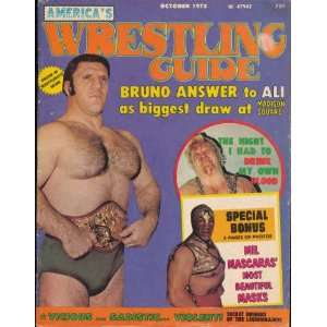 Wrestling Guide Oct 1975 Mil Mascaras Bruno Sammartino