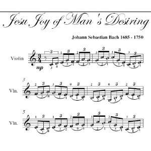 Jesu Joy of Mans Desiring Bach Easy Violin Sheet Music