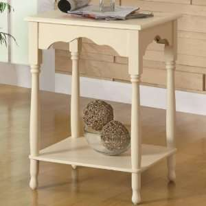 Coaster Furniture 900959 Country Style End Table with Inlay Shelf in