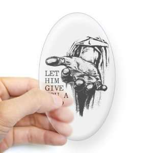 : Sticker Clear (Oval) Jesus Let Him Give You A Hand: Everything Else