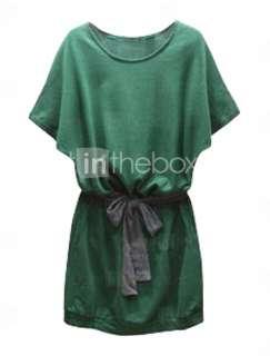 manica corta con cintura vestito giorno ispirati alla moda celebrità