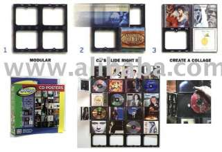 cd wall poster rack display holder lp frame products, buy cd wall