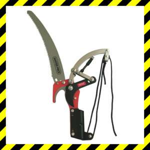 TELESCOPIC TREE LOPPER RATCHET PRUNER CUTTER & 30cm SAW