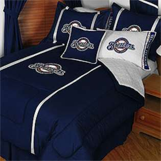 MLB Milwaukee Brewers Queen MVP Comforter and Sheets  Sports Fan Shop