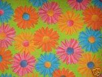 Groovy Daisy Floral Flowers Fat Quarter Fabric   FQ
