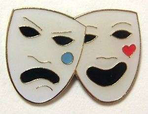 PINS   Theater Comedy Tragedy Masks Drama Lapel Pin
