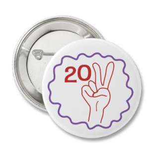 Class 2011 Peace Sign Buttons from Zazzle