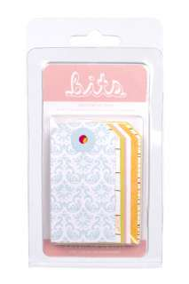 American Crafts   Hello Sunshine Collection   Bits   Decorative Tags