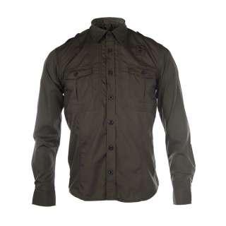 Homme Mens Green Uniform Long Sleeved Shirt   Shirts from Psyche UK
