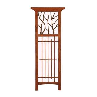 Shop Matthews Four Seasons Hickory Wood/Metal Trellis at Lowes