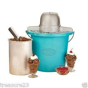 Electrics ICMP 400BLUE 4 Quart Plastic Bucket Ice Cream Maker