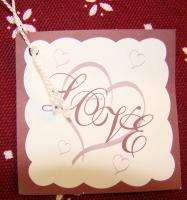 LOVE BEIGE HEART PILLOW NIP L@@K GREAT RINGBEARER PILLOW