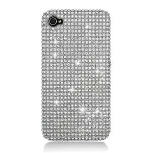 For Apple iPHONE 4, 4S Full Diamond Case Silver Bling Cell Phone Cover