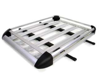 Aluminum Roof Basket Cargo Carrier Rack Car Top w/BARS