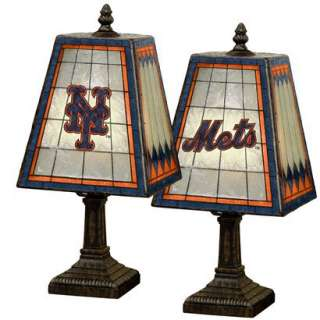 New York Mets Art Glass Table Lamp.Opens in a new window