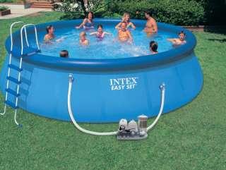 INTEX 18 x 48 Easy Set Swimming Pool Set & 2000 GPH Saltwater System