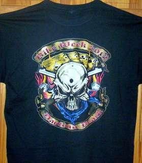 New T Shirt 2012 Daytona Beach Bike Week  HOLE IN THE HEAD  Sz SM