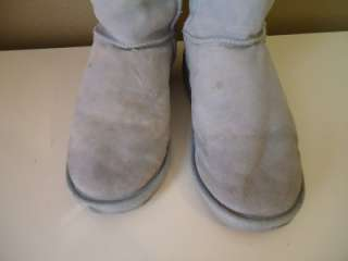 W6 /M7 EMU BABY BLUE TALL WINTER BOOTS WOMEN MEN USED