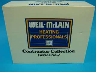 ERTL WEIL McLAIN Contractor Collection #7 New Die Cast Toy Truck Set