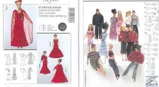 Burda 11 1/2 Fashion Doll Sewing Pattern Barbie