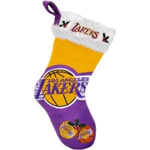 Colorblock Christmas Stocking, Los Angeles Lakers Christmas Decor