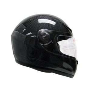 TMS Black Carbon Fiber Full Face Motorcycle Helmet Street