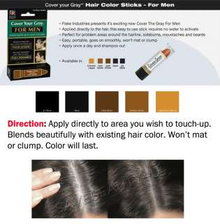 IRENE GARI COVER YOUR GRAY HAIR COLOR STICK FOR MEN 5 COLORS