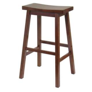New Solid Wood Saddle Seat Counter Height Bar Stool