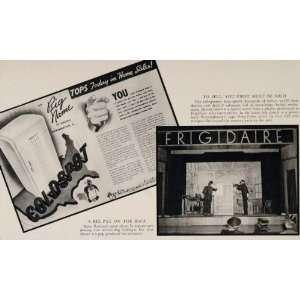 1940 SET Ads Vintage Refrigerator Coldspot Frigidaire