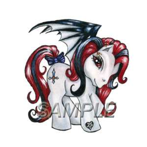 MY LITTLE PONY GOTHIC T SHIRT IRON ON TRANSFER 2 DESIGN