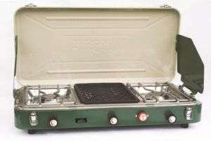 NEW TEXSPORT Dual Burner Propane Camping Stove w/Grill 049794142282