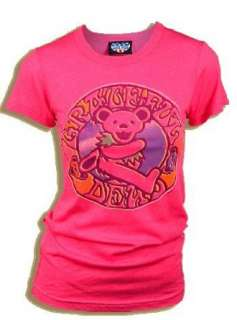 Junk Food The Grateful Dead Owsley Stanley Bear Flash Pink